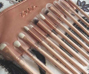Brushes, beauty, and girl image