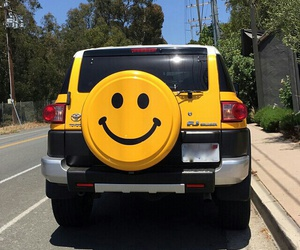 car, happy, and yellow image