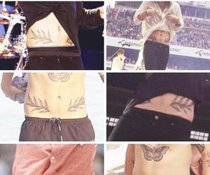 shirtless, tattos, and tummy image