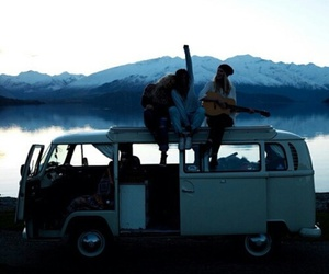 friends, travel, and guitar image