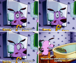 cartoon network, courage the cowardly dog, and inspiration image