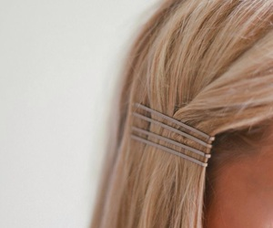 accessories, bobby pins, and half updo image