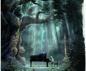 alone, music, and piano image