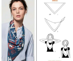 scarf, tutorials, and accessorize image