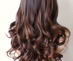 auburn, brown, and curly image