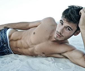 abs, beach, and guy image