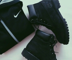 black, nike, and timberland image