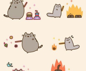 pusheen, cat, and wizard image