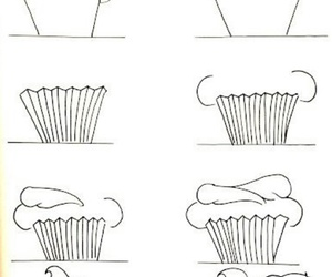 cupcake, drawing, and Easy image