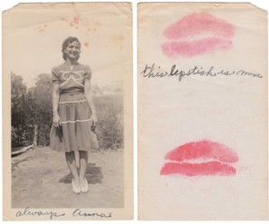 lipstick, vintage, and girl image