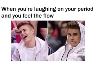 funny, period, and justin bieber image