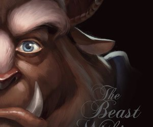 beast, disney, and prince adam image