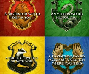 harry potter, gryffindor, and slytherin image
