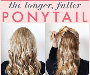 hair, ponytail, and hairstyle image