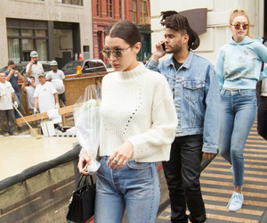 gigi hadid, the weeknd, and abel tesfaye image