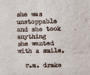 quote, smile, and Drake image