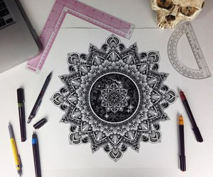 art, mandala, and tattoo image