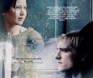 real, peeta mellark, and katniss everdeen image