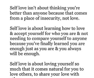 self love, love, and quote image