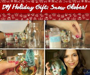 christmas, diy, and snow globe image