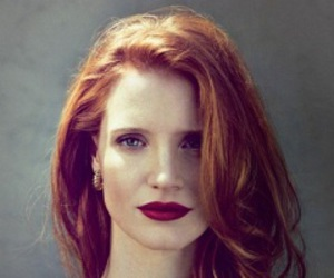 jessica chastain, makeup, and hair image