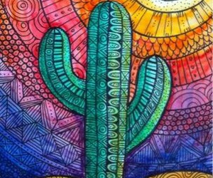 colors and zentangle art image