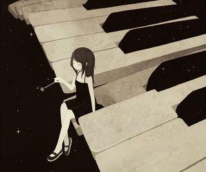 piano, anime, and music image