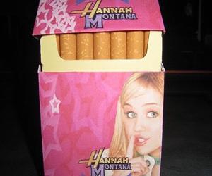 cigarette, hannah montana, and smoke image