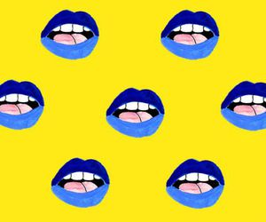blue, contrast, and lips image