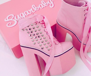 pink, shoes, and cool image