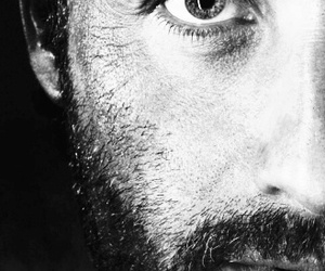 the walking dead, black and white, and rick image