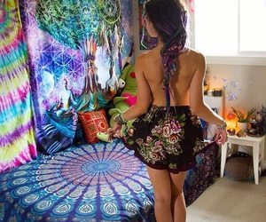 beautiful, psychadelic, and tapestry image