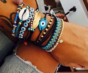 boho, bracelets, and summer image