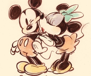 disney, mickey mouse, and minnie image