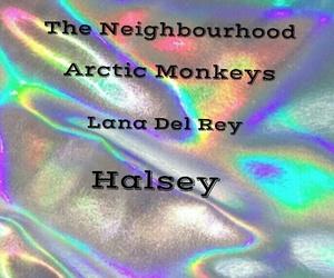 arctic monkeys, halsey, and lana del rey image