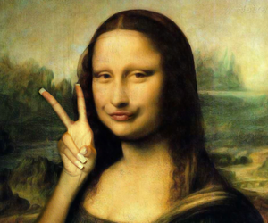 mona lisa, funny, and iphone image