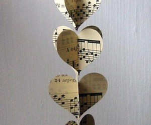 hearts, music, and love image