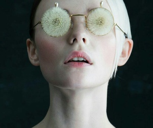 dandelions, glasses, and eyes image