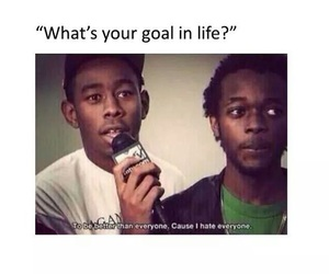 funny, goals, and hate image