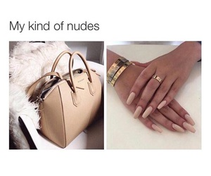 nails, Nude, and bag image