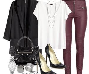 black, rings, and heels image