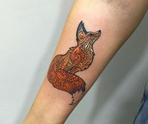 fox, tattoo, and quote image