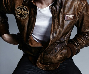 leather jacket and steve rogers image
