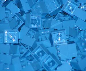 blue, art, and lego image