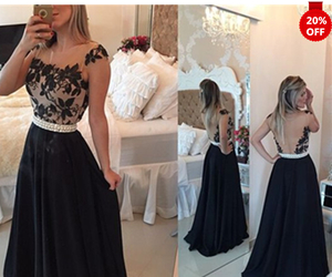 christmas sale, long prom dresses, and black lace dresses image