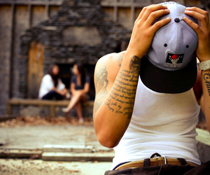 boy, tattoo, and cap image