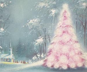 card, christmas, and pink image