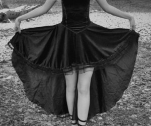 black, dress, and gothic image