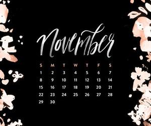 black, flowers, and calendar image