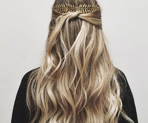 hair, hair style, and lovely locks image